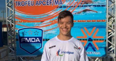 Paratleta Davi Hermes ganha medalha de ouro no Campeonato Maranhense de Natação