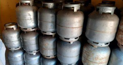Depósito clandestino de gás de cozinha é fechado na Raposa
