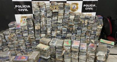Polícia Civil apreende mais de meia tonelada de cocaína em Pinheiro