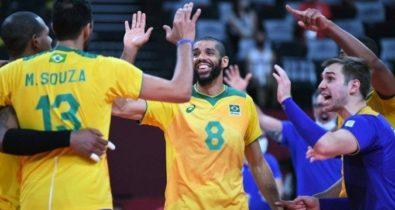 Em novo confronto, Brasil e Rússia buscam vaga na final do vôlei masculino