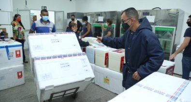 Maranhão recebe novo lote de vacinas Pfizer e CoronaVac com 111.340 doses