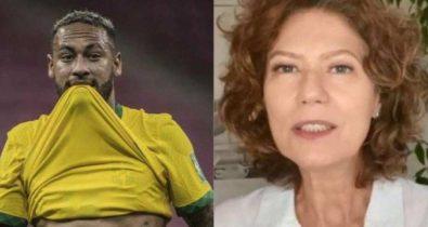 Neymar responde crítica de Patrícia Pillar de forma irônica