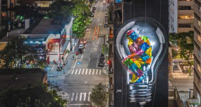 Novo mural de Kobra instiga a repensar valores