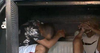 Durante assalto à residência, dono da casa e entregador de pizza são feitos de refém