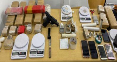 Três pessoas são presas por tráfico de drogas na região do Vinhais