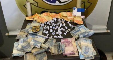 Mulher é presa em flagrante por tráfico de drogas em Miranda do Norte