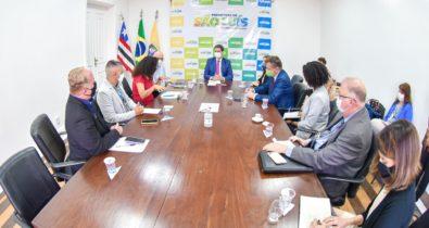Braide reúne-se com membros do consulado dos Estados Unidos no Brasil