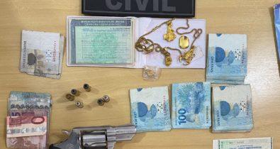 Homem é preso em flagrante por posse ilegal de arma de fogo no interior do Maranhão