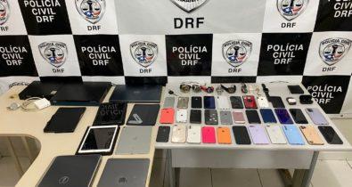 Suspeito de receptação é preso com celulares e notebooks roubados