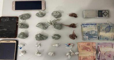 Dupla é presa suspeita de tráfico de drogas no bairro Cruzeiro do Anil