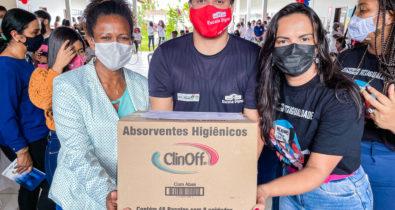 Iniciada a distribuição de absorventes para rede estadual de ensino