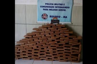 Polícia apreende 116kg de maconha prensada em povoado de Humberto de Campos