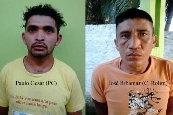 Paulo César da Silva Martins, vulgo PC, e José Ribamar Silva Saraiva, vulgo C. Rolim, são acusados de envolvimento em assaltos na orla marítima de São José de Ribamar