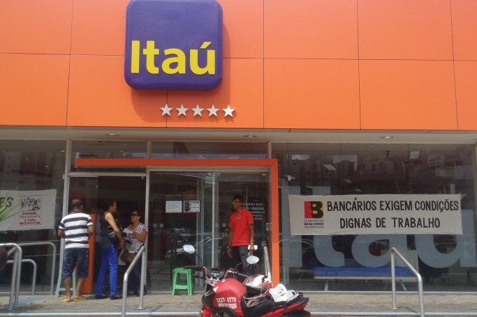paralisação bancos Itaú e Santander