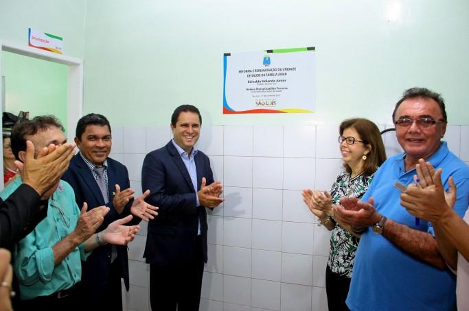Prefeito Edivaldo entrega Unidade de Saúde da Família Amar reformada na Vila Fialho