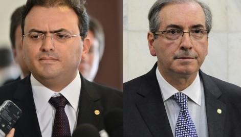 O presidente da OAB, Marcus Vinicius Furtado Coelho, e o Presidente da Câmara dos Deputados, Eduardo Cunha