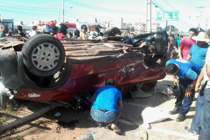 acidente em Ribamar