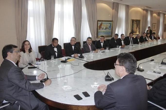 Maçons se encontram com o Governador Flávio Dino
