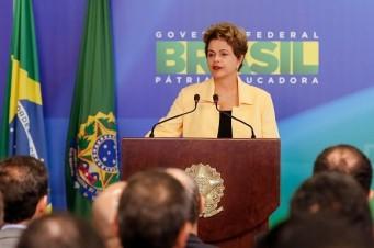 Brasília - DF, 02/09/2015. Presidenta Dilma Rousseff durante recepção à Delegação Brasileira de WorldSkills 2015 no Palácio do Planalto. Foto: Roberto Stuckert Filho/PR