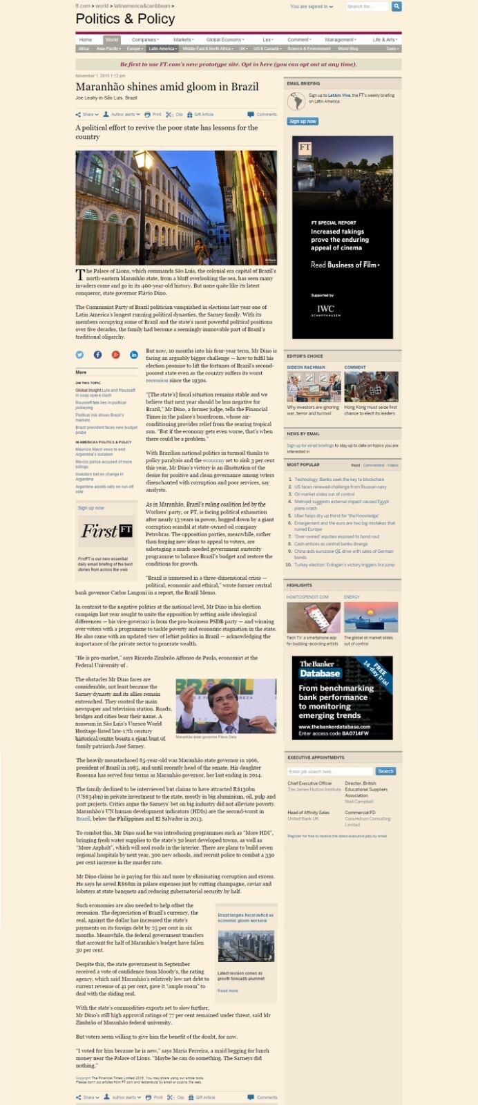 Matéria Financial Times