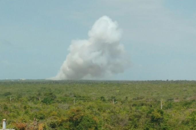 Foguete  explode no Centro de Lançamento de Alcântara
