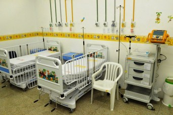 Leitos no Hospital Infantil Dr. Juvêncio Mattos