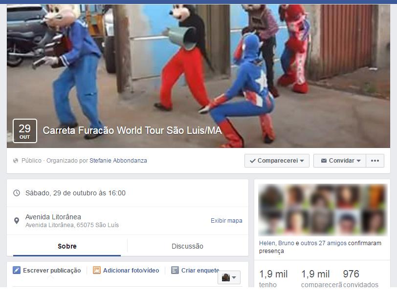 Grupos em rede social pedem a presença do grupo em São Luís