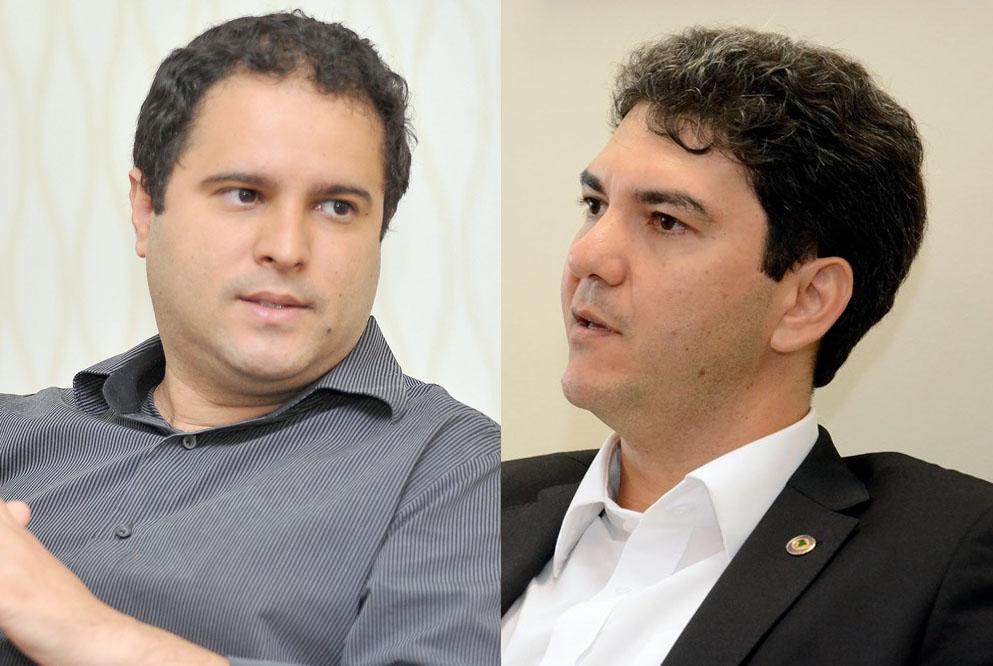 Candidatos Edivaldo Holanda Junior e Eduardo Braide