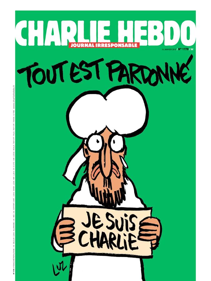 Por causa de uma piada sobre o profeta Maomé, terroristas promoveram um atentando ao jornal francês Charlie Hebdo, no dia 7 de janeiro de 2015, assassinando 12 pessoas, incluindo uma parte da equipe do Charlie Hebdo e dois agentes da polícia nacional francesa
